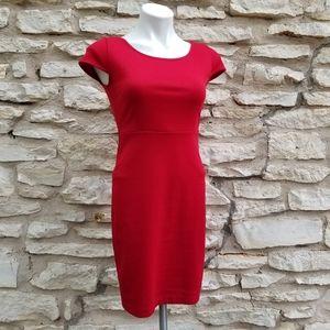 4/$20 F21 Ponte Knit Cap Sleeve Bodycon Dress S